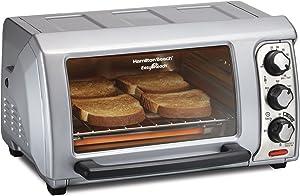 Hamilton Beach 31339 Easy Reach Toaster Oven with Roll-Top Door,Silver