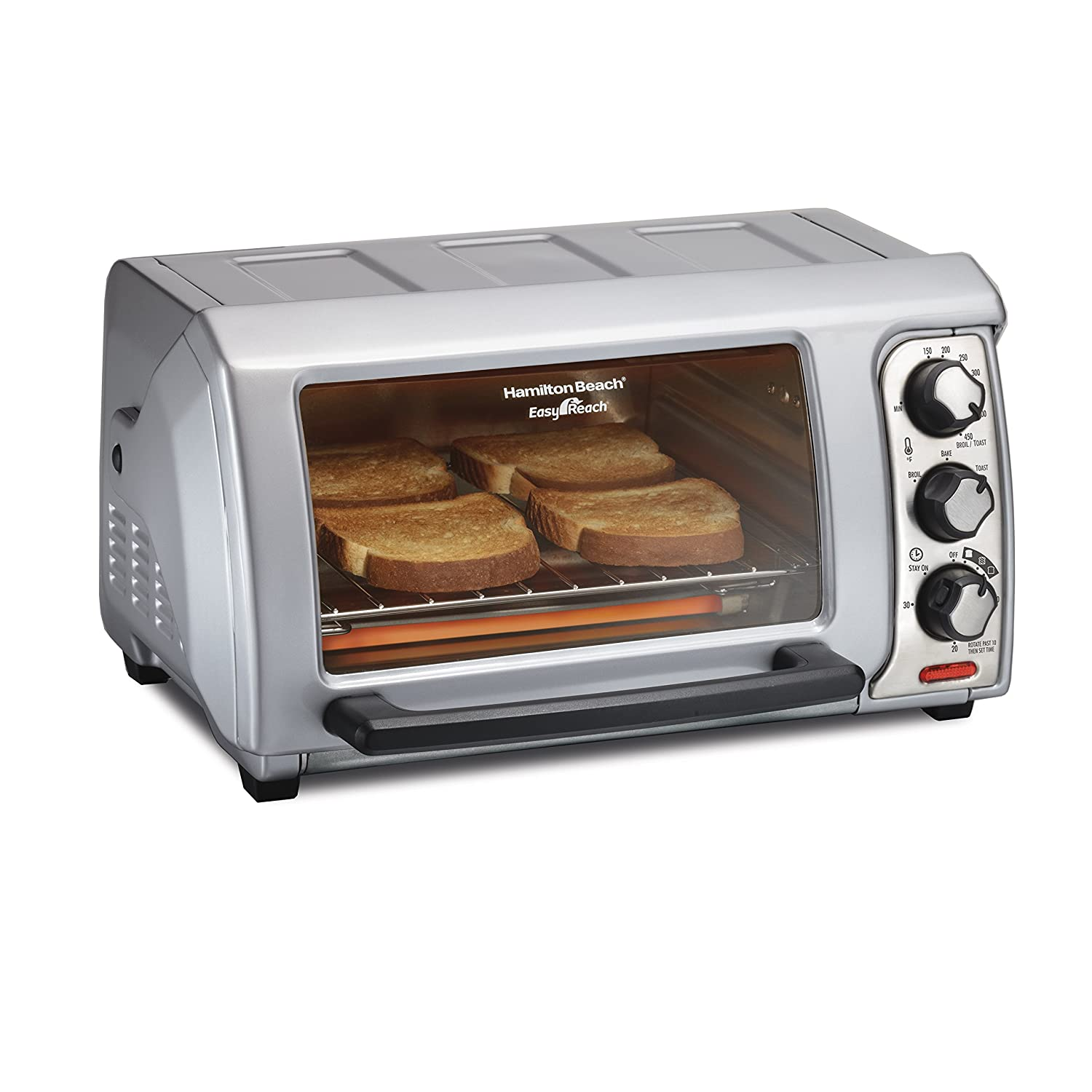 Hamilton Beach 31339 Easy Reach Toaster Oven with Roll-Top Door