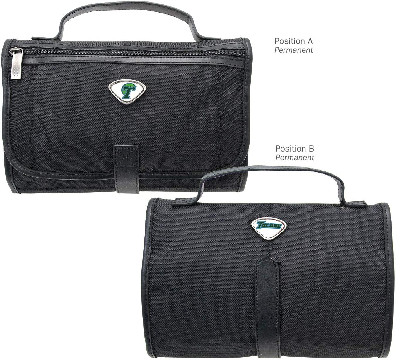 Black One Size AdSpec NCAA Tulane Green Wave Collegiate Toiletry BagCollegiate Toiletry Bag