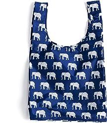 BAGGU Standard Reusable Shopping Bag, Eco-friendly Ripstop Nylon Foldable Grocery Tote, Elephant Blue (2017)