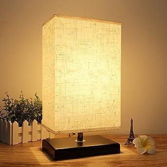 Seealle Wood Table Lamp, Minimalist Bedside Table Lamp, Simple ...