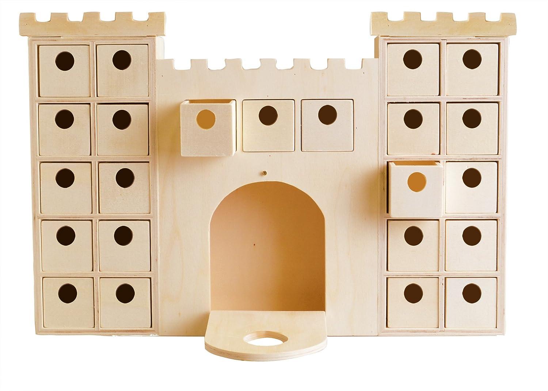 Artemio 14002296 - Calendario de adviento, Madera, 42,3x6x42cm, diseño de Castillo