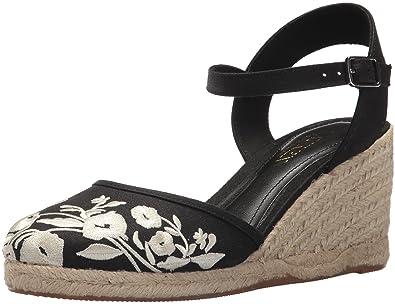 27d9910e2622 Lauren Ralph Lauren Women s Hayleigh Espadrille Wedge Sandal Black 9.5 ...