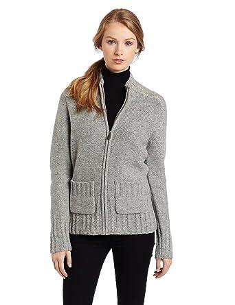 Carhartt Women\u0027s Hanson Sweater Zip Front, Heather Gray (Closeout), X,Small  at Amazon Women\u0027s Clothing store Cardigan Sweaters