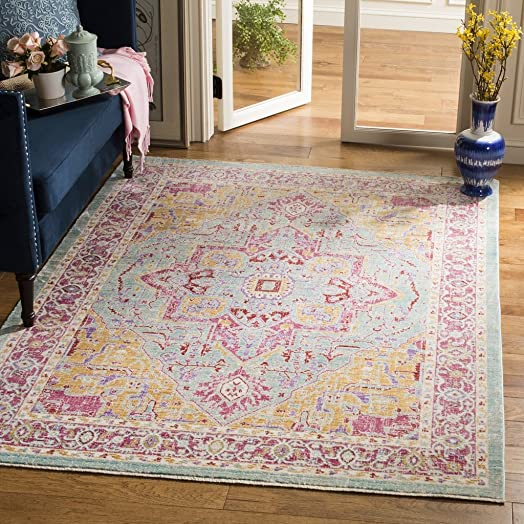 Safavieh Sutton Collection Area Rug, 9 x 13 , Aqua Multi