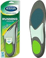 Dr. Scholl's RUNNING Plantillas para hombre (Hombres, 10.5 – 14) // Absorbe los golpes y evita lesiones comunes de correr
