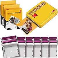 KODAK Mini 3 Retro Portable Photo Printer, Compatible with iOS, Android & Bluetooth Device, Real Photo (3x3), 4Pass…