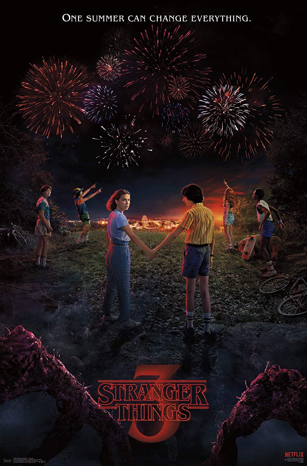 Amazon.com: Trends International Stranger Things 3 - Key Art Wall Poster 22.375
