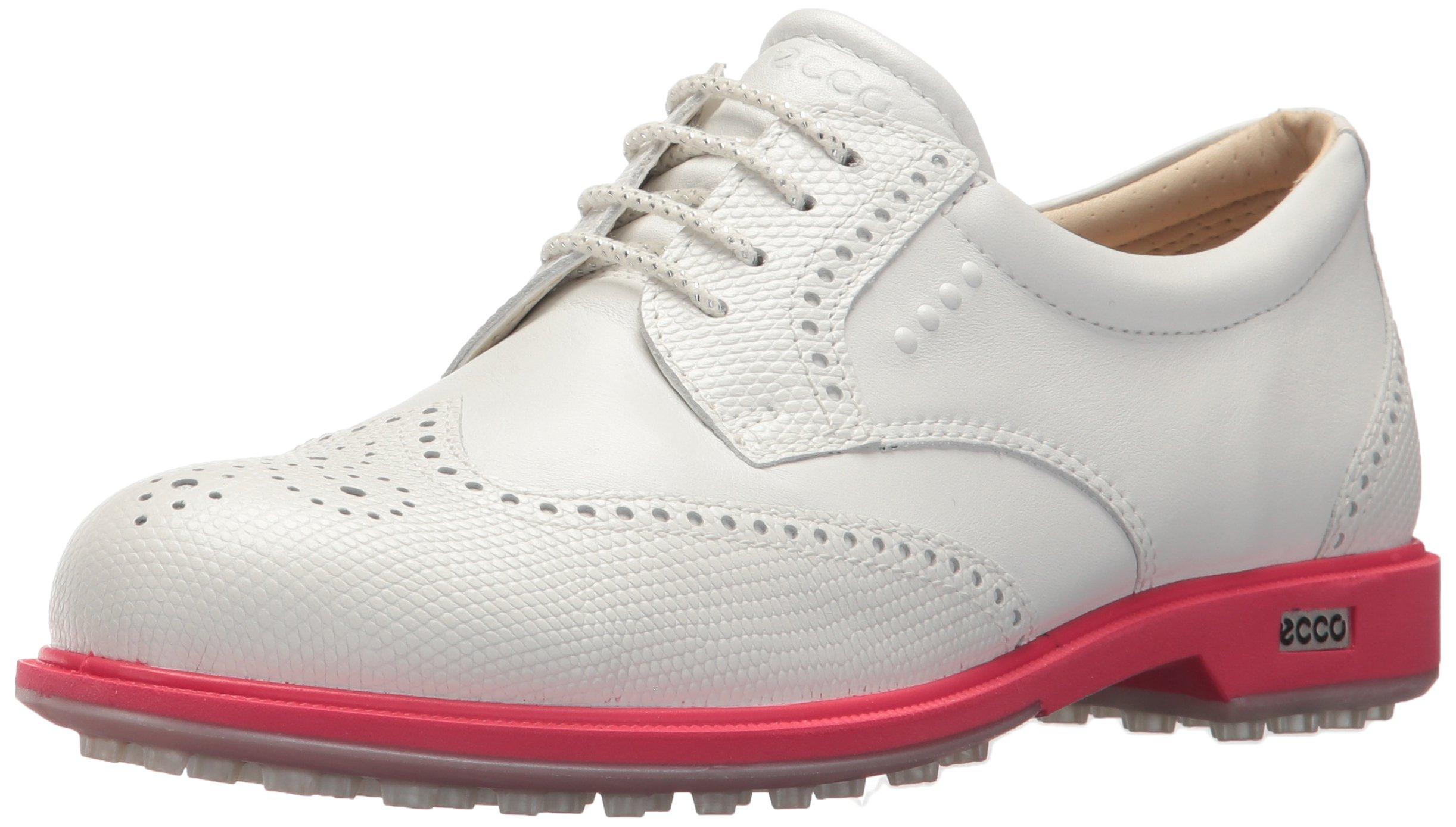 ECCO Women's Classic Hybrid Golf Shoe, White/Teaberry, 37 M EU (6-6.5 US) by ECCO