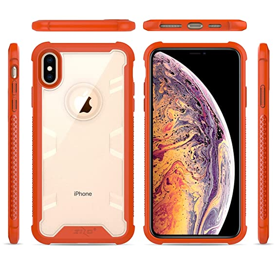 ca7ec1c7974a Image Unavailable. Image not available for. Color: Zizo Proton Series  Compatible with iPhone Xs Max Case Military Grade Drop Tested with Tempered  Glass