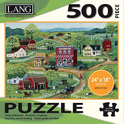 Lang - 500 Piece Puzzle -General Store, Artwork by Mary Singleton - Linen Finish - 24 x 18 Completed
