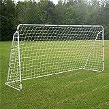 F2C Football Post Soccer Goal Target Net 12' x 6'/6' x 4' Tournament AYSO Regulation FIFA/MLS Training Aid Ultimate Backyard Outdoor Kids Official Soccer Goal, Steel Frame