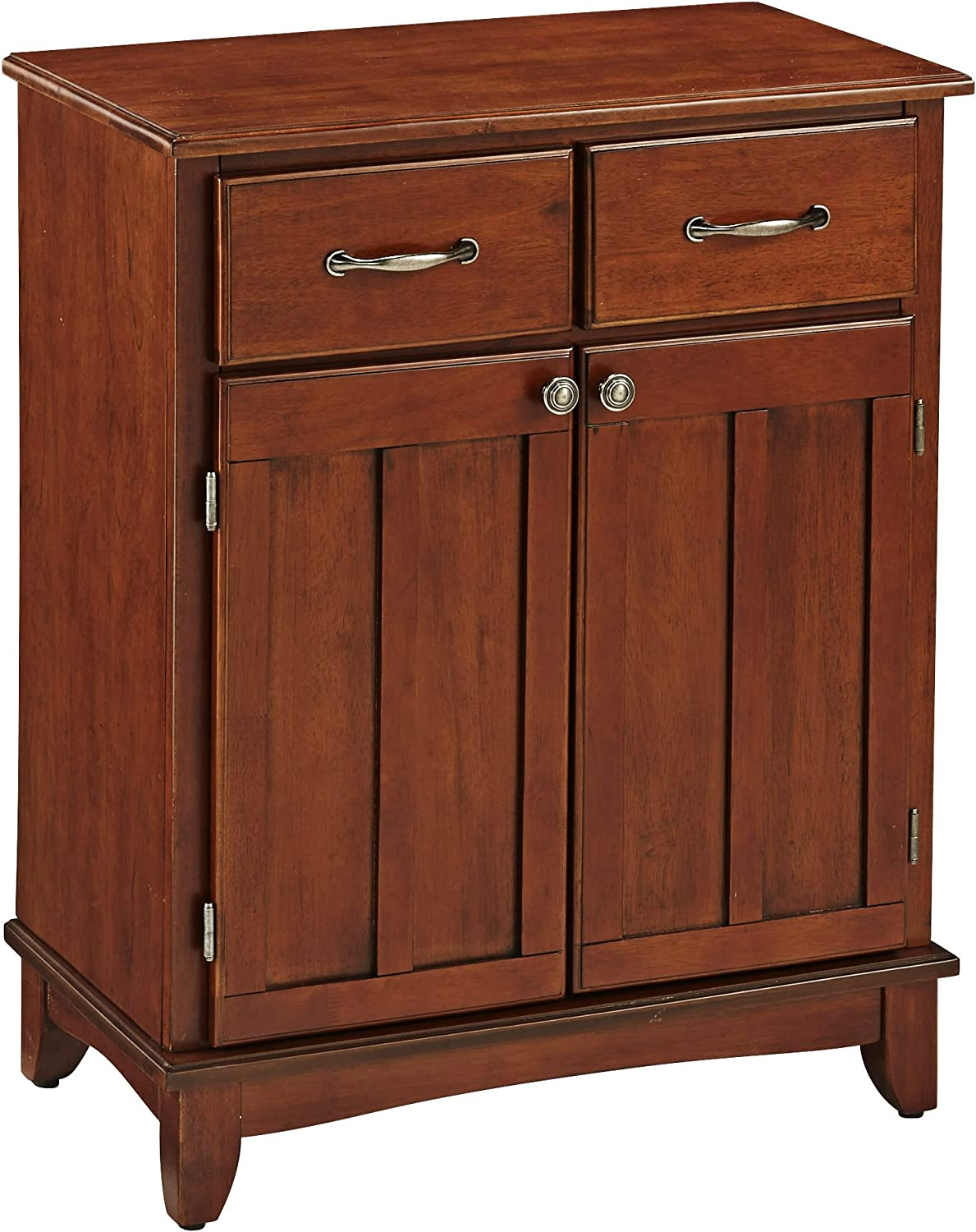 Buffet of Buffet Medium Cherry with Wood Top by Home Styles