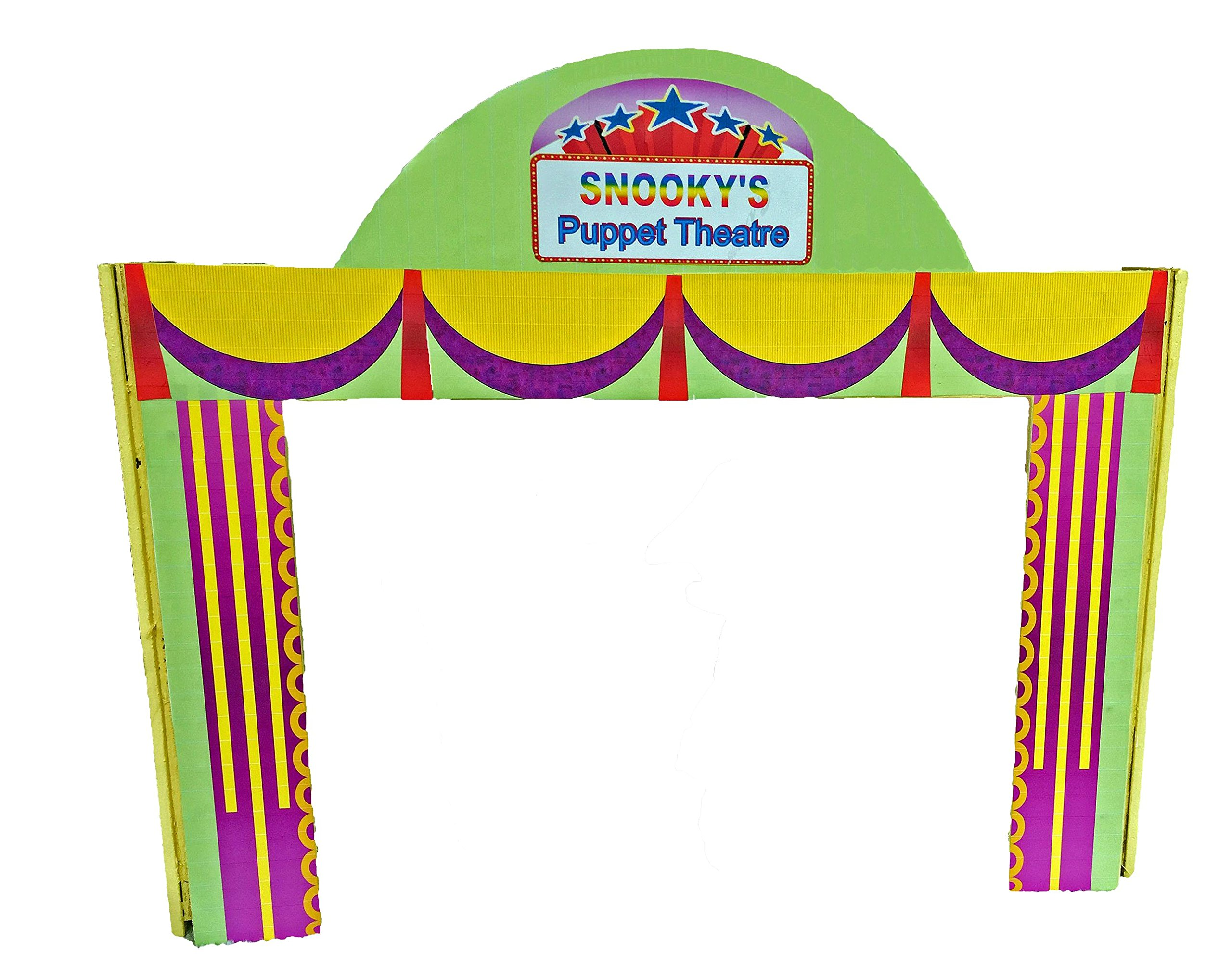 Pure Imagination Kids Wood Puppet Theater Custom Personalized for Girls & Boys. Puppet Master Show Stage - Tabletop - Portable -- Sturdy - Handmade