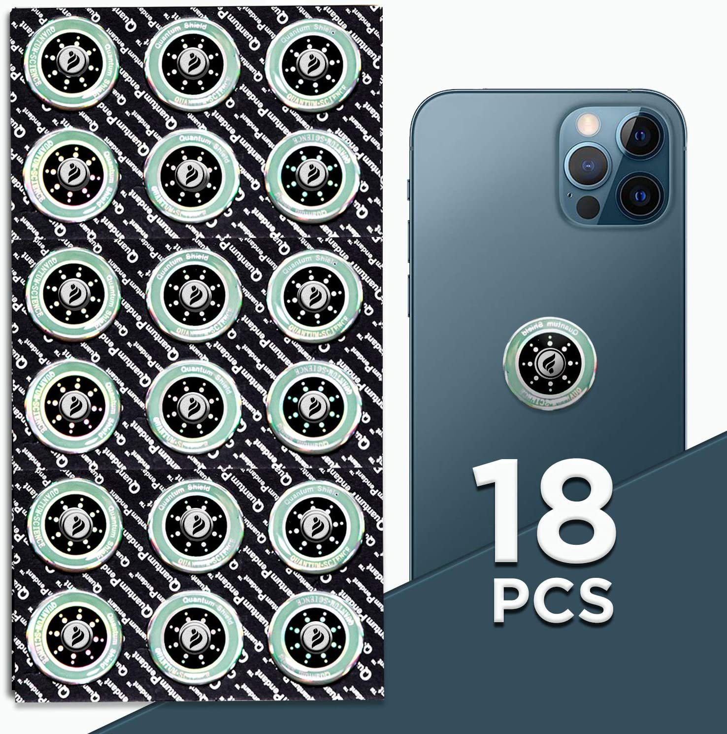 Falden   18 Pack Premium Quality Anti EMF Stickers   New Box 2021   Cell Phone - Computers EMF Shield Stickers   Anti EMR Shield   Easy to Use
