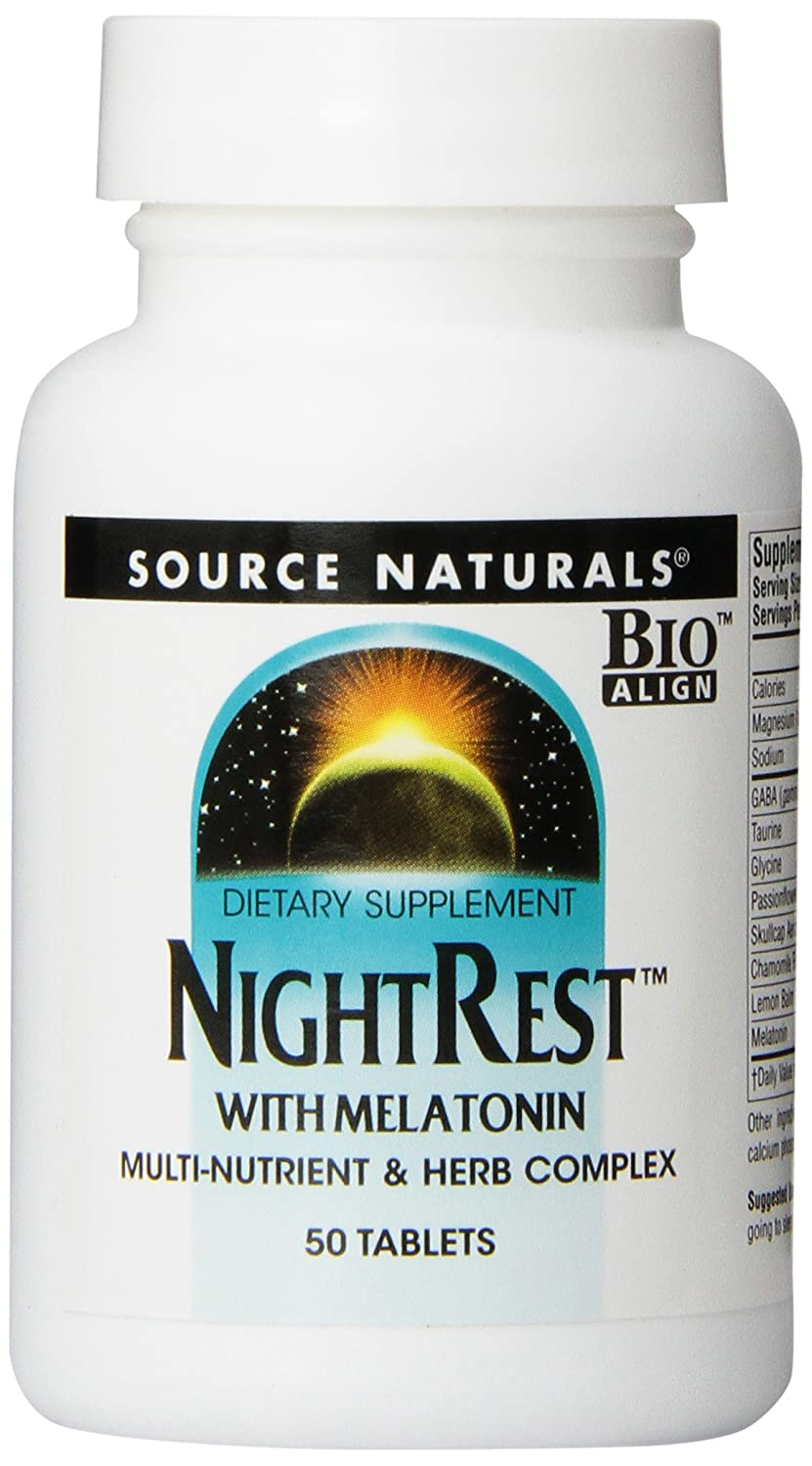 Amazon.com: Source Naturals NightRest with Melatonin, 50 Tablets (Pack of 2): Health & Personal Care