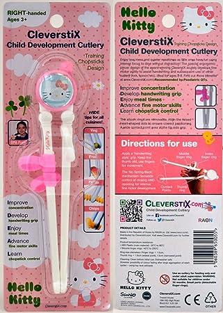 Sanrio Hello Kitty Niños cubertería de Desarrollo: CleverstiX. com de Entrenamiento Palillos Chinos para Finos Habilidades de Motor: Amazon.es: Hogar