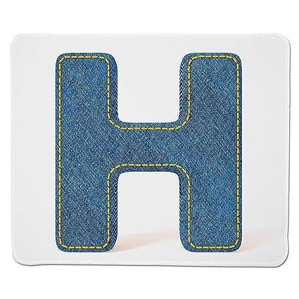 Amazon com : Mouse Pad Unique Custom Printed Mousepad [ Letter H