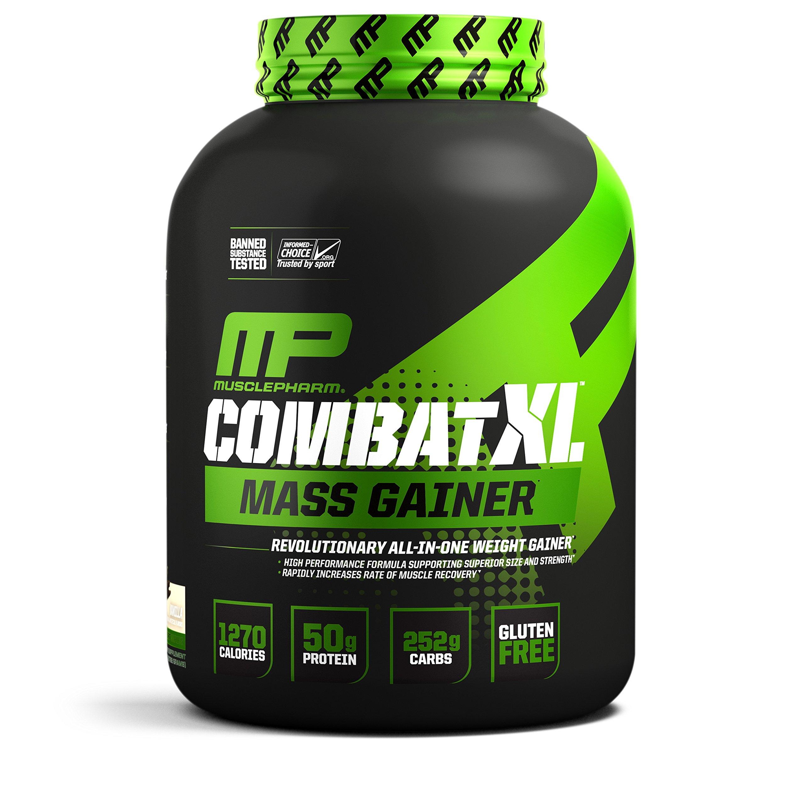 MusclePharm Combat XL Mass Gainer Powder, Vanilla, 6 Pound