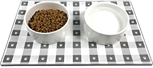 EdRock Dog Cat Food Mat | FDA Grade, Non-Slip, Non-Stick Silicone Tray | No Mess Dog Cat Pet Feeding Bowl Placemat