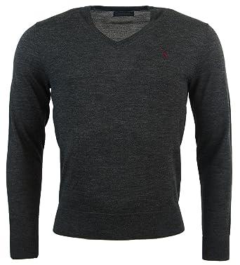 f31fd3ede Polo Ralph Lauren Mens Custom Fit Merino Wool V-Neck Sweater at Amazon Men s  Clothing store