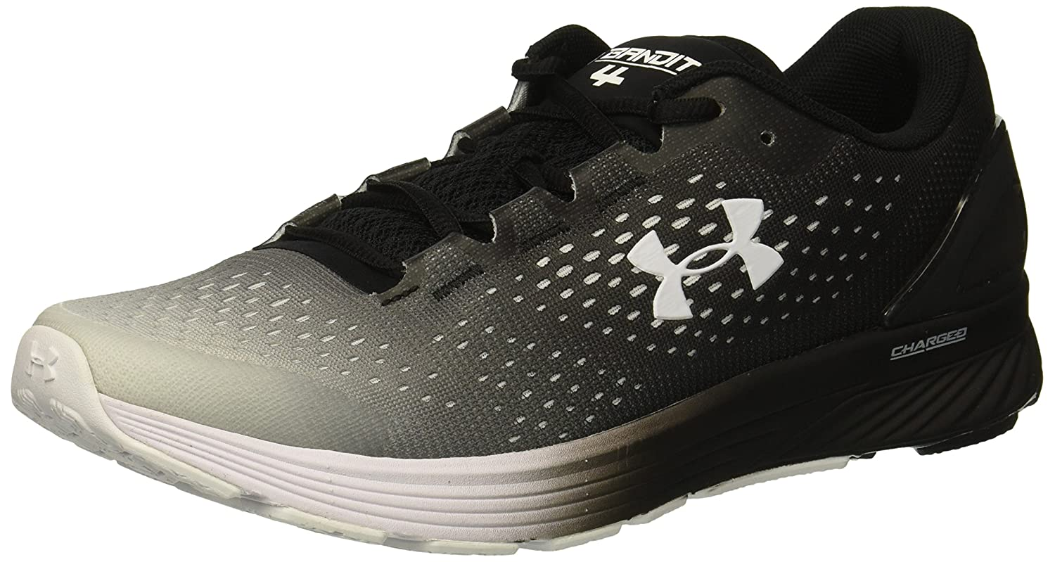Under Armour Women's Charged Bandit 4 Running Shoe B076RXLCJK 12 M US|Black (002)/Ivory