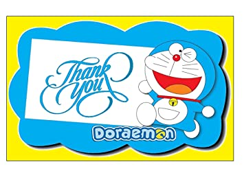 Doraemon Theme Thank You Tags 20 Pieces For Party Rectangular