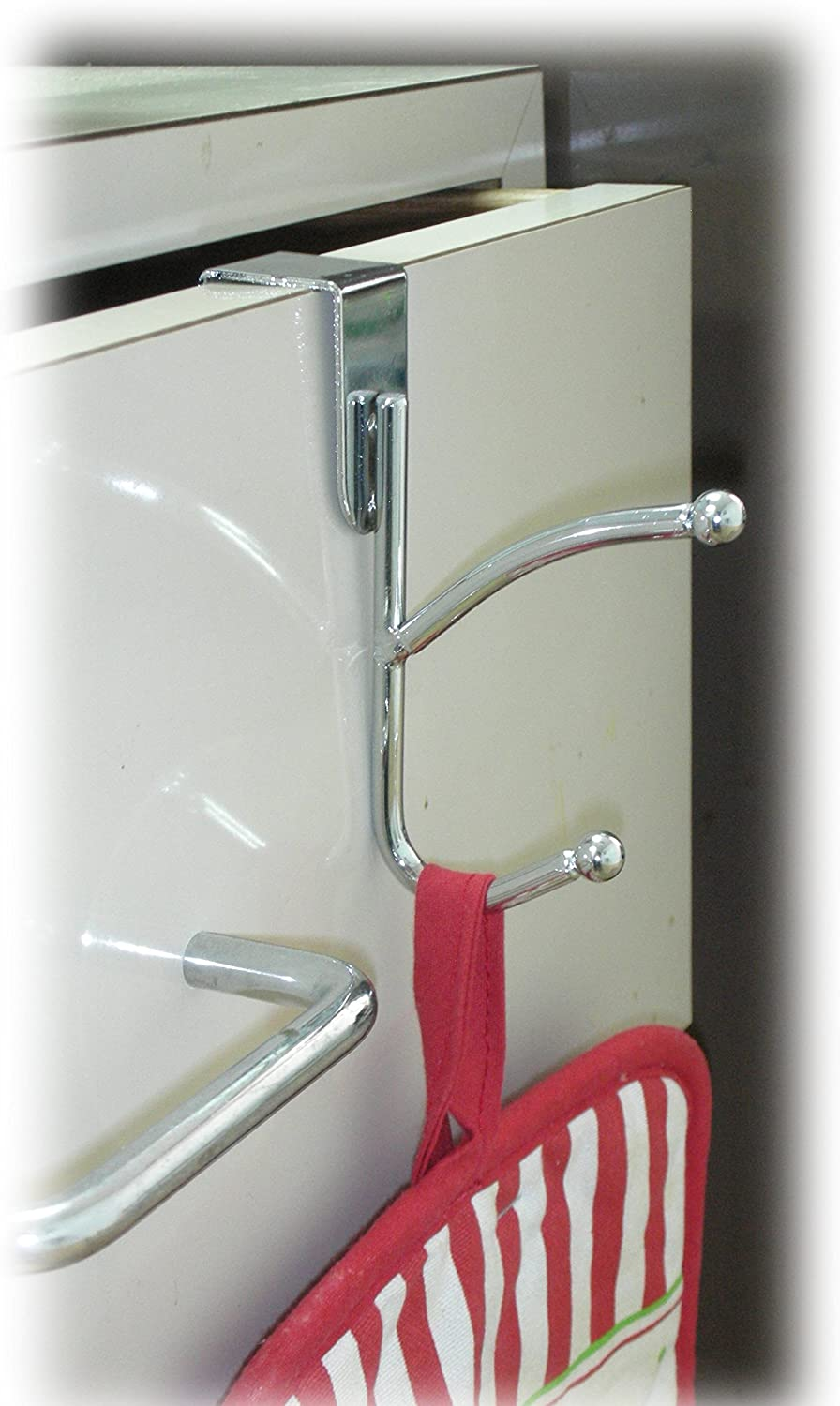 Chrome American Dream Household Kitchen Sense Over the Cabinet//Drawer Double Hooks
