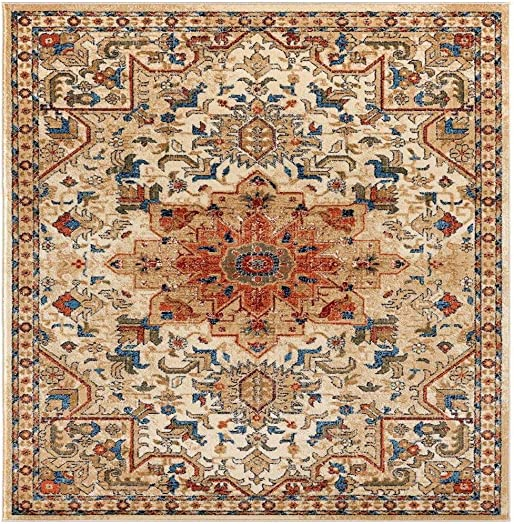 Luxe Weavers Howell Collection Ivory Oriental 5×7 Area Rug 2527