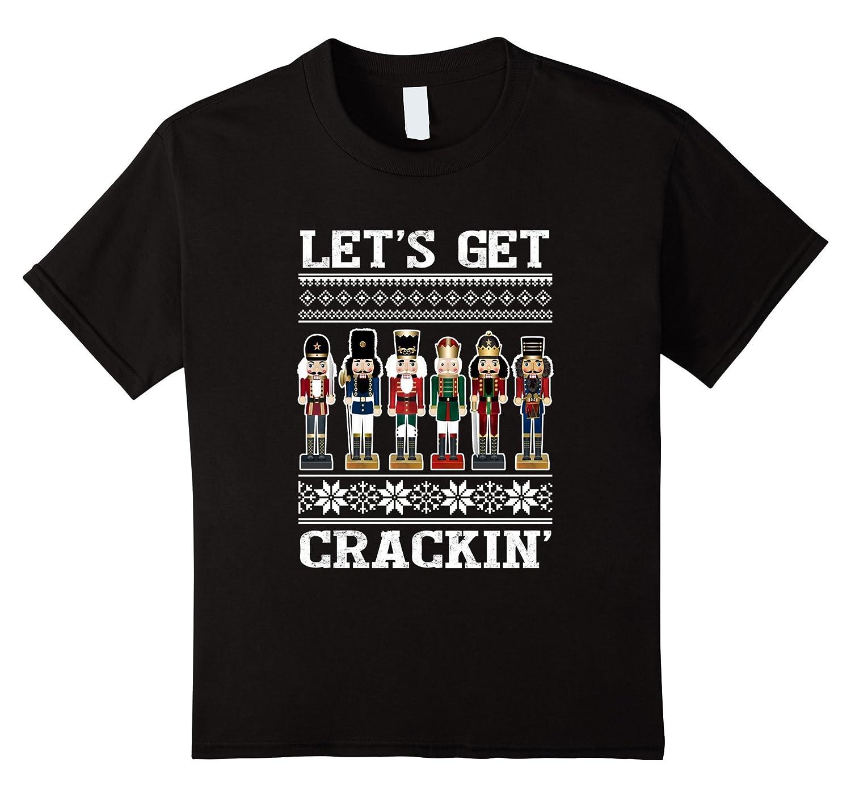Crackin Funny Nutcracker Christmas T Shirt-Veotee