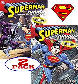 DC Comics Superman Coloring And Activity Book Set 2 Books 96 Pgs Each