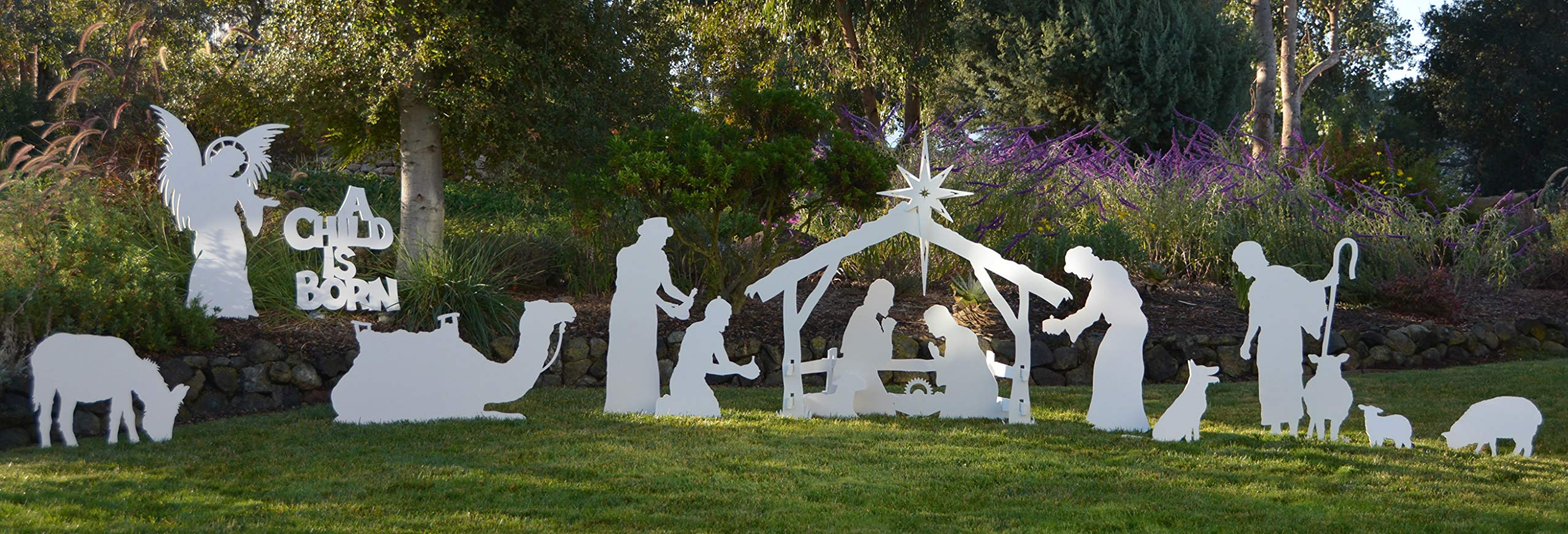 MyNativity Complete Medium Size Christmas Outdoor Nativity Set (3 different outdoor nativity sets to choose from, Medium, Large, and Life size Outdoor Nativity Scenes.)