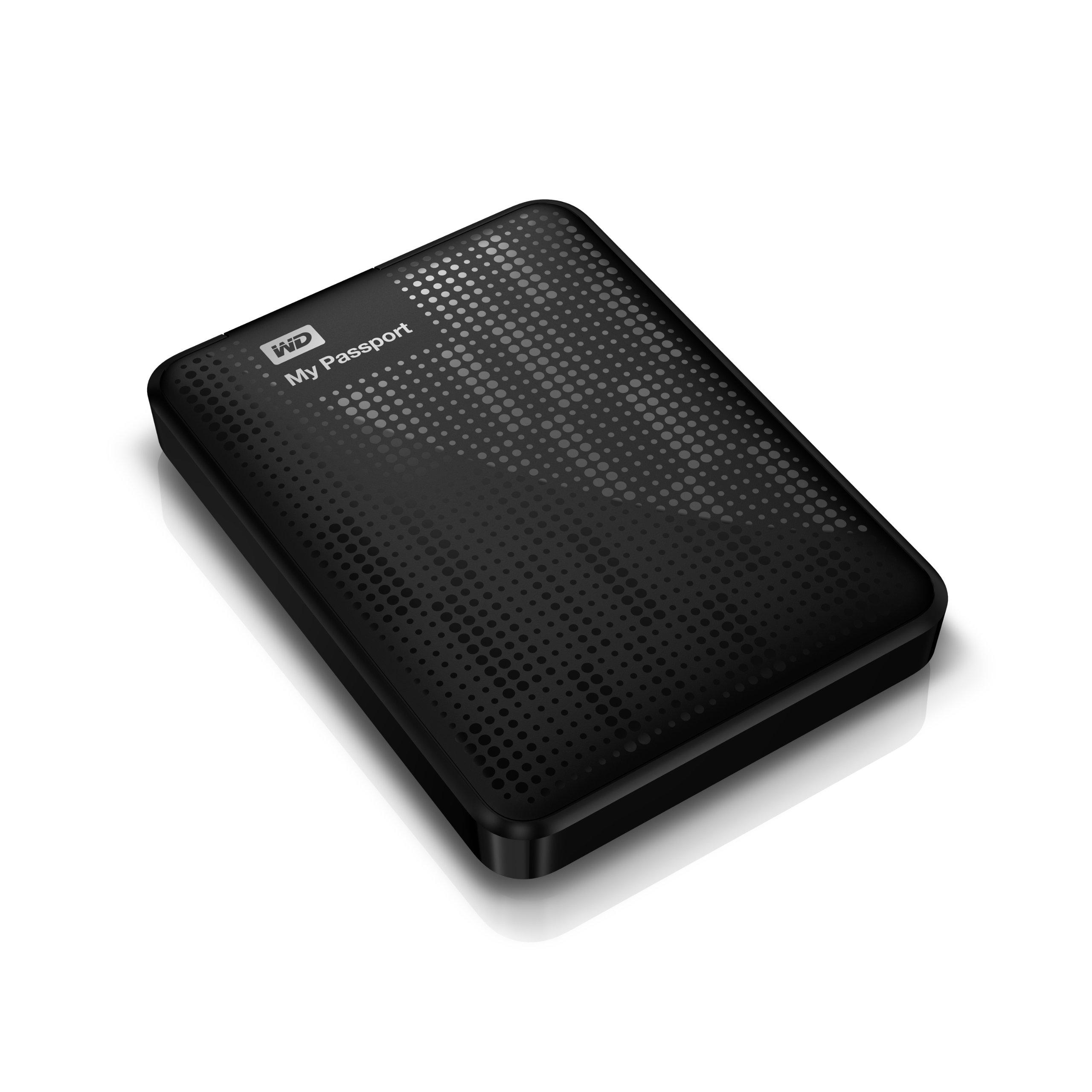 WD My Passport 1TB USB 3.0 Portable External Hard Drive (Black) product image