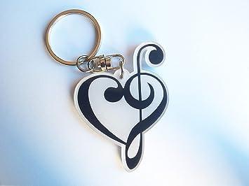 Llavero con forma de llave de Fa y llave de sol combinada en ...