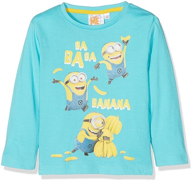 Universal Banana Minions, Camiseta para Niños, Azul (Blue 14-4816 TC)