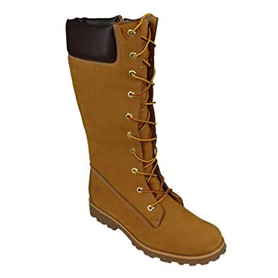 Timberland 83980 Junior Girls Asphalt Trail Classic Lace Up Side Zip Knee High Womens Boots