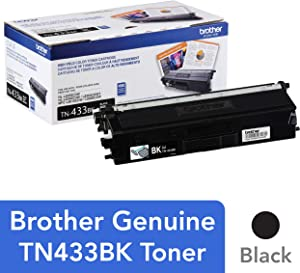 Brother Genuine TN433BK High Yield Toner-Retail Packaging , Black