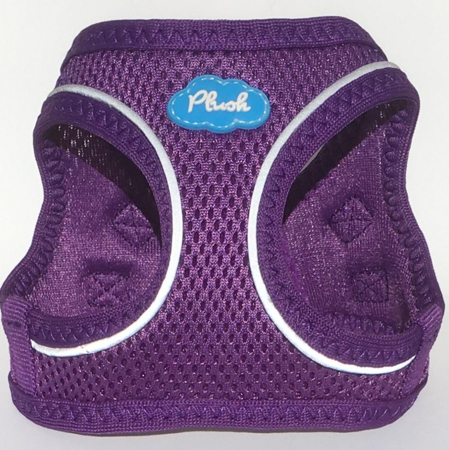 Purple XL Purple XL Plush Step-in Air Mesh Harness 10 7 Sizes (XL, Purple)
