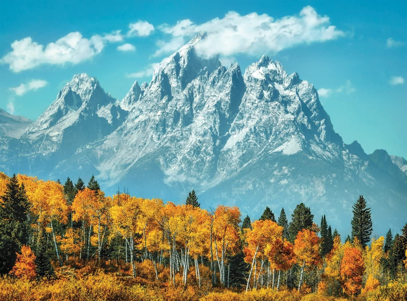 Grand Teton In Fall Jigsaw Puzzle, 500 Pieces, Made in Italy