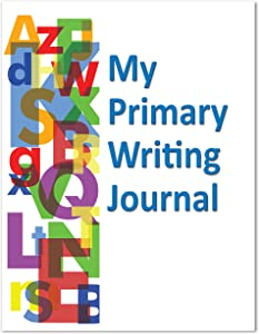 """BookFactory Elementary School My Primary Writing Journal/Classroom Writing Journal - 10 Pack (8.5"""" x 11"""" - 32 Pages) Saddle Stitched (JOU-032-7CSS-MPWJ-[10-Pack]-PJX)"""