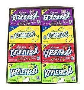 Ferrara Lemonhead Variety Bundle of 24 Individual Boxes (Original Lemon/Apple/Grape/Cherry)
