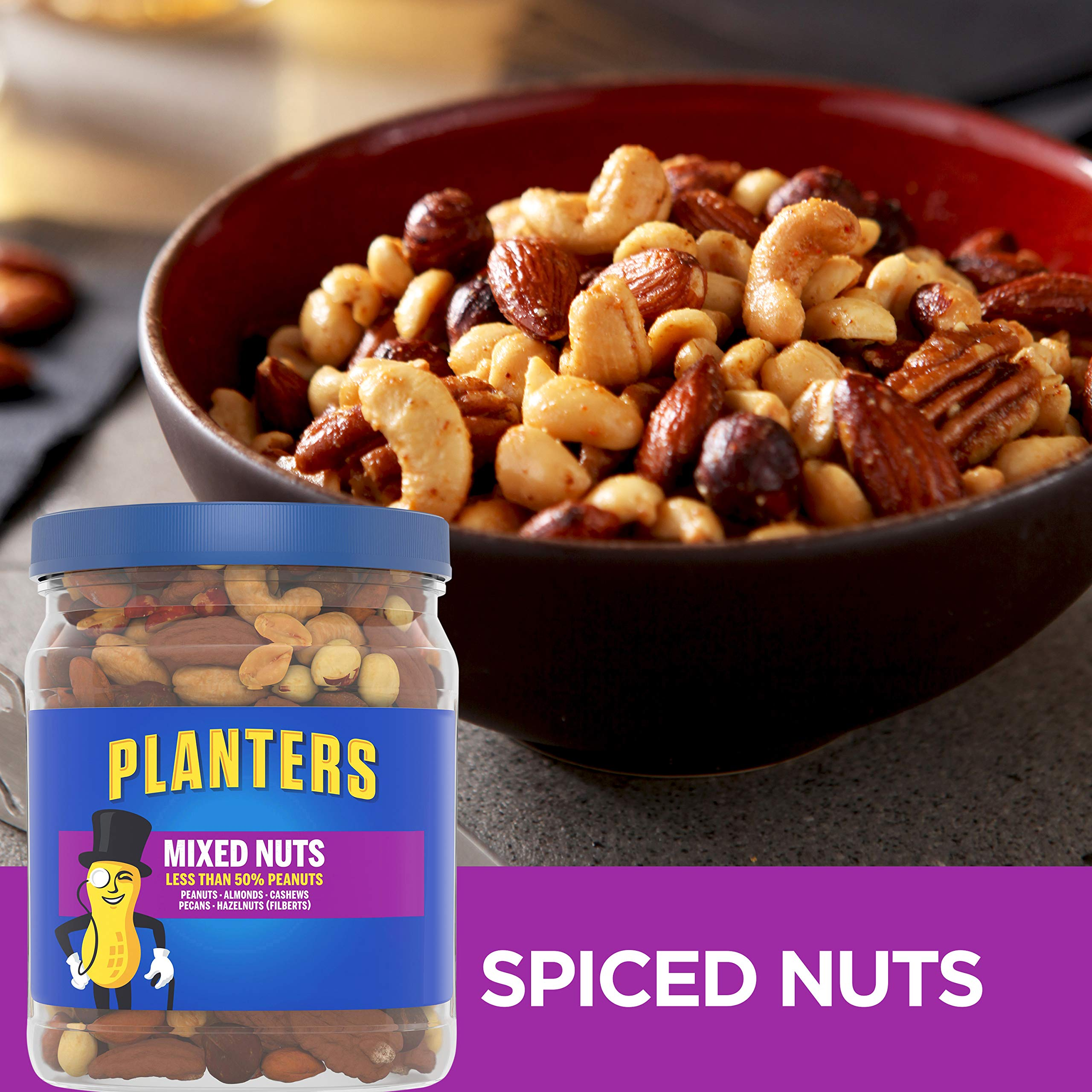 Planters Mixed Nuts, Regular Mixed Nuts, 1lb 11 Ounce Jar by Planters (Image #5)