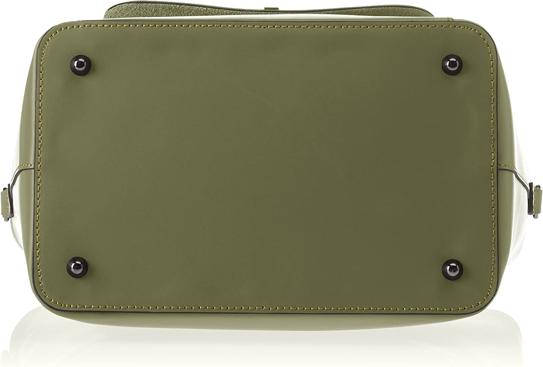 Chicca Borse Damen 8855 Schultertasche, 37x25x17 cm Grün (Verde Verde)