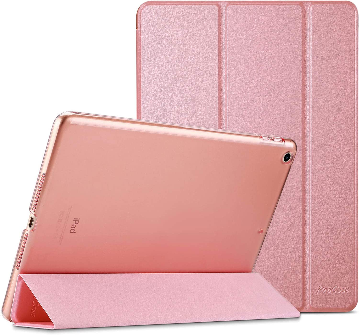 ProCase iPad 9.7 Case 2018 iPad 6th Generation Case / 2017 iPad 5th Generation Case - Ultra Slim Lightweight Stand Case with Translucent Frosted Back Smart Cover for Apple iPad 9.7 Inch –Pink