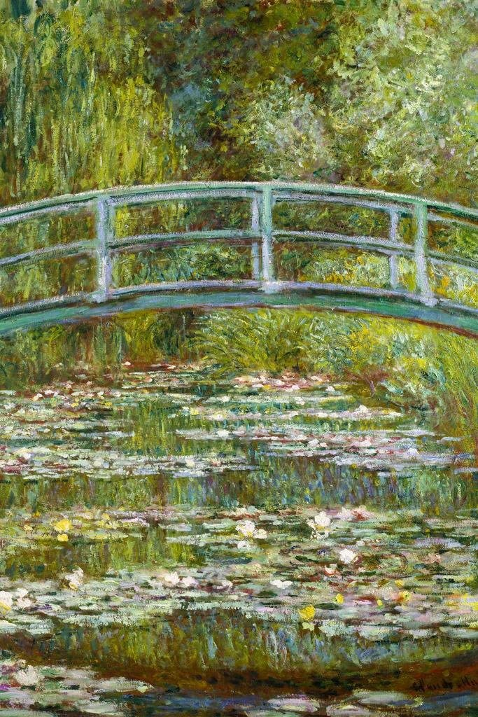 Claude Monet The Water Lily Pond Japanese Bridge Cool Wall Decor Art Print Poster 24x36