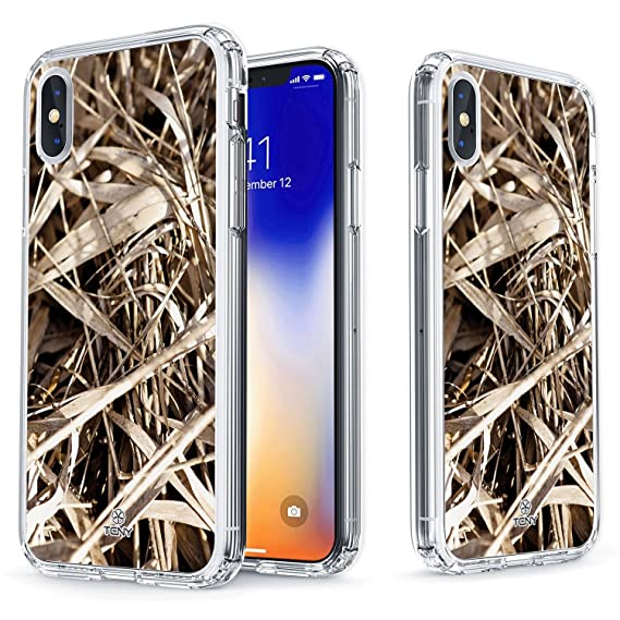 low priced 62190 20156 True Color Case for iPhone Xs, iPhone X Camo Case - Clear Shield Real HD  Camouflage Printed on Clear Back - Soft and Hard Thin Shock Absorbing ...