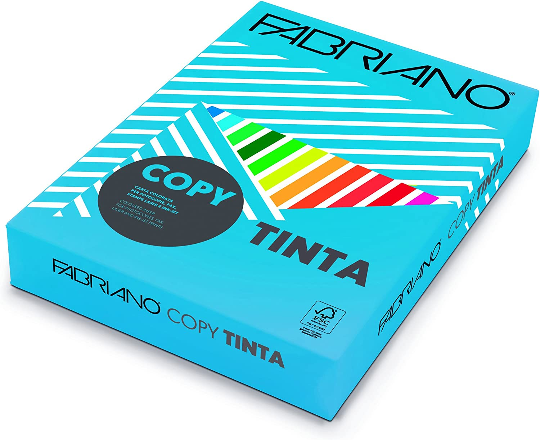 Fabriano F60321297 - Pack de 500 hojas de papel, A4, color azul fuerte: Amazon.es: Electrónica