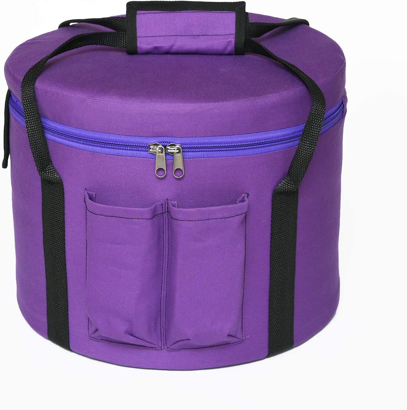 CVNC 8 Inch Purple Color Padded Carrying Case Bag For Crystal Singing Pyramid