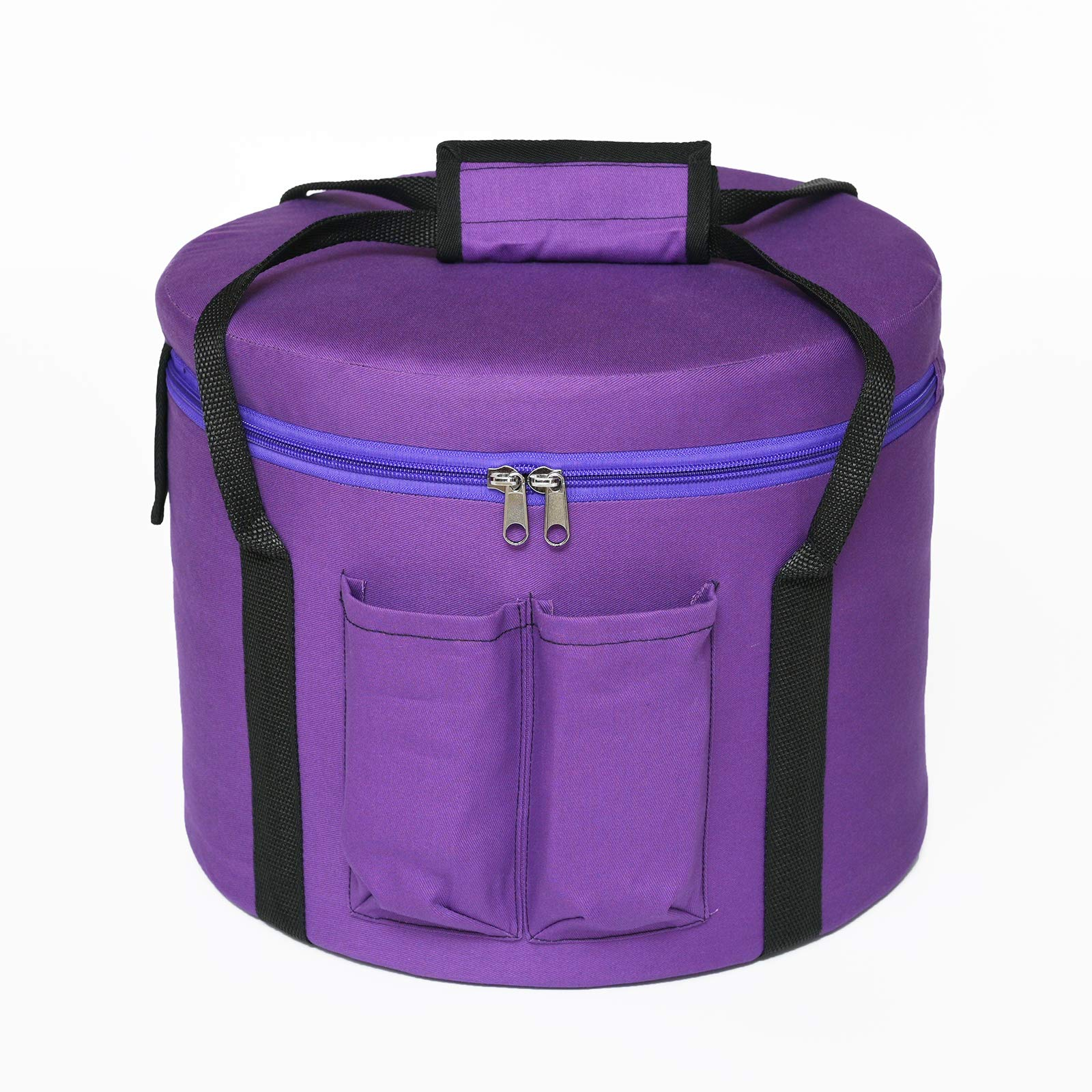 CVNC 10 Inch Purple Colored Bag Heavy Duty Sponge Padded Crystal Singing Bowl Traveling Carry Case for 10 Inch Sound Bowls by CVNC