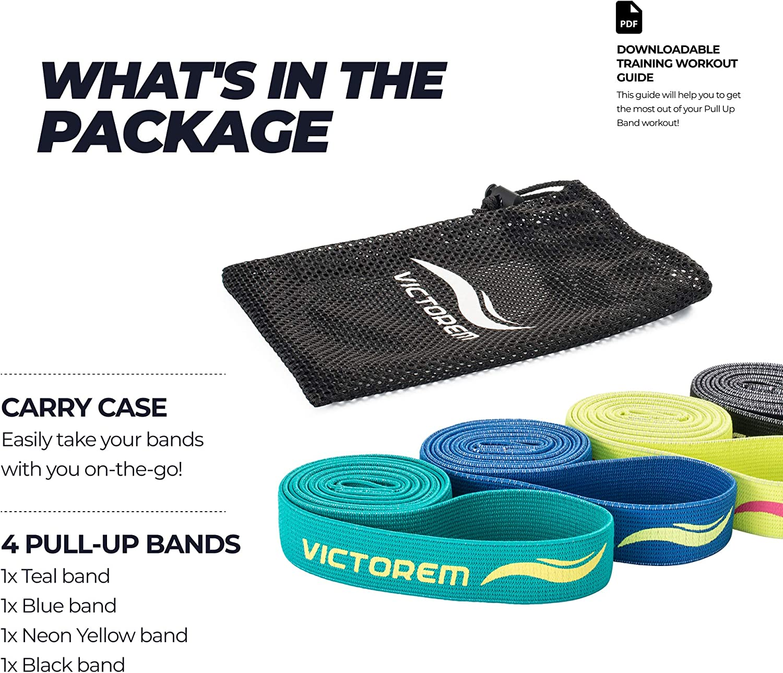 Victorem Pull Up Assist Bands